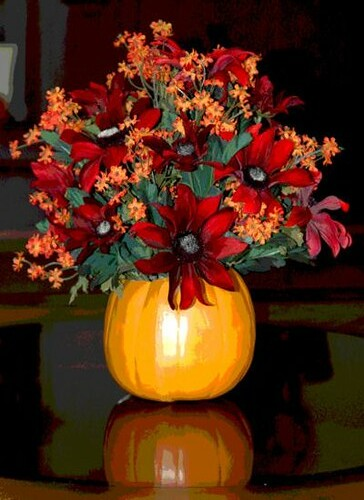 Fall Flower Arrangement On Coffee Table Flickr Photo