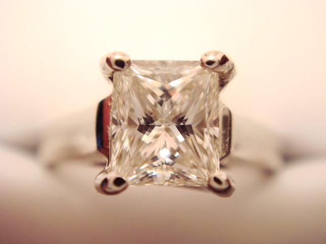 Carat Princess Cut Diamond Stud Earrings