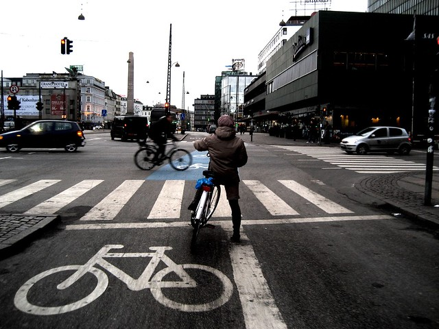 Bicycle Intersection in Copenhagen