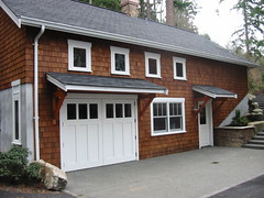 Bainbridge Island Craftsman - REAL carriage house door, out-swing