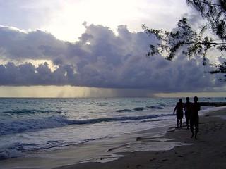 Storm at sea...