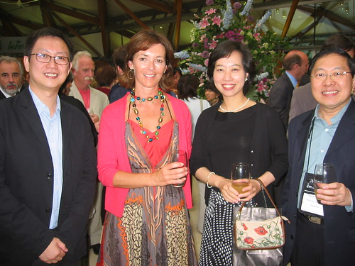 Howard Chan (Hong Kong), Duchess of Northumberland, Mayuko Sano (Japan) and Lee Suan Hiang (Singapore) at the Summit Dinner, Alnwick Gardens
