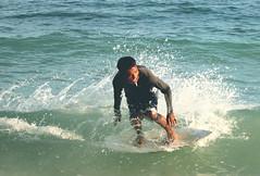 beach(0.0), bodyboarding(0.0), surface water sports(1.0), boardsport(1.0), individual sports(1.0), sports(1.0), sea(1.0), surfing(1.0), ocean(1.0), wind wave(1.0), extreme sport(1.0), wave(1.0), water sport(1.0), skimboarding(1.0), surfboard(1.0),