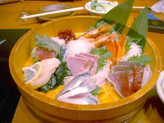 we japanese eat raw fish.
