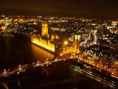 Long exposure shot of parliament at night