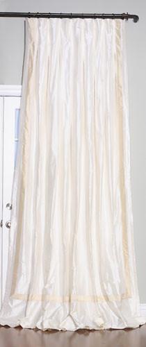 Rod Pocket Curtains Small Ruffled Natural Color
