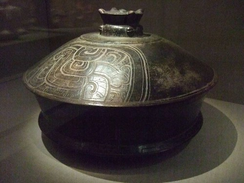Basal flanged lidded vessel Central Maya area Early Classic Maya 4th-6th century CE earthenware