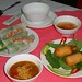 Fresh Spring Rolls and Shrimp Cooked on Sugar Cane - Saigon, Vietnam
