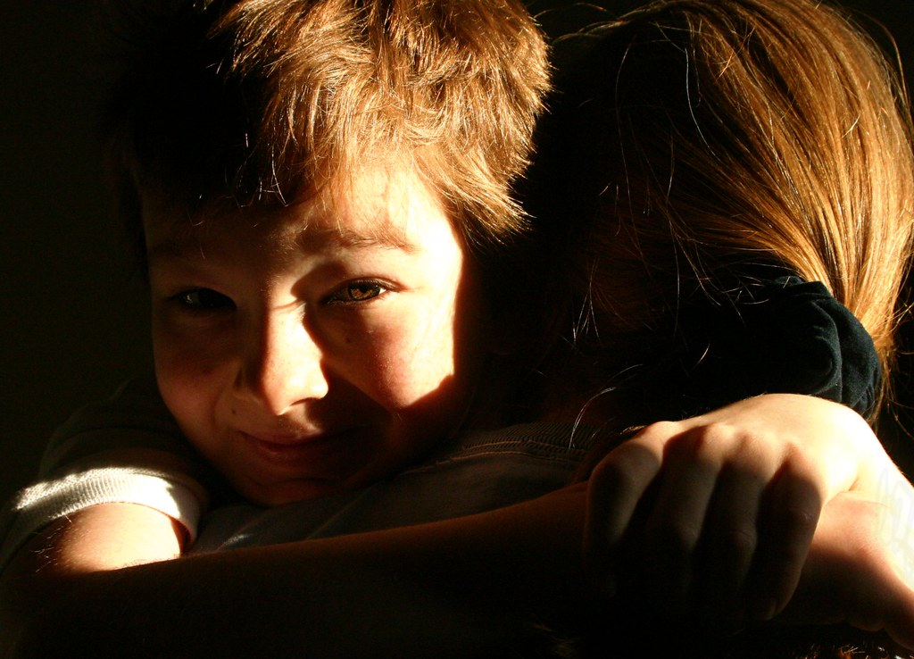 The morning hug