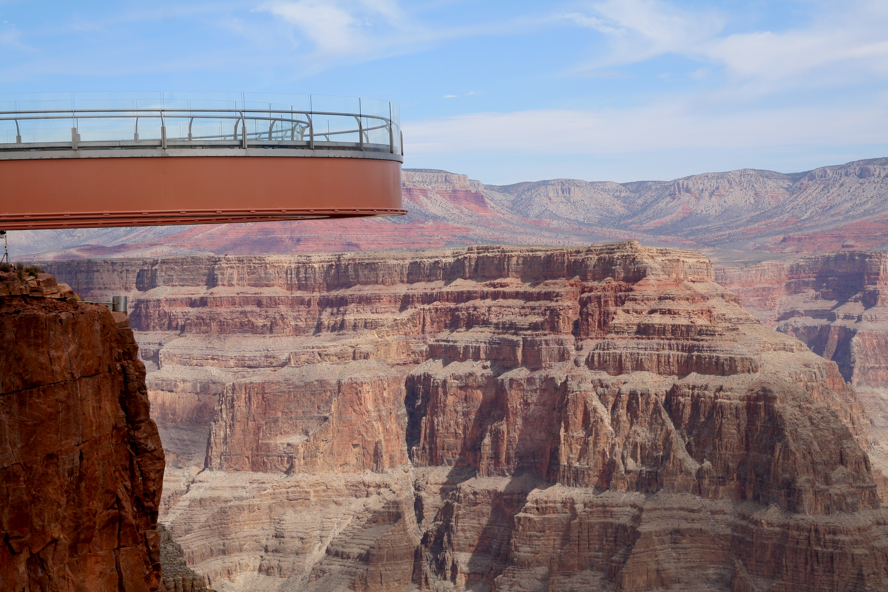 Grand Canyon West Rim Skywalk Aerial Photograph