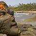 Rock Carving on Vagator Beach, Goa India