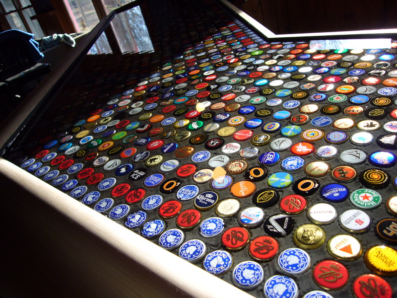 Bottle cap bar top 28 images 10 ways to recycle bottle for Beer cap bar top