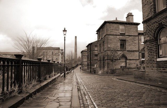 The old streets of Saltaire Village