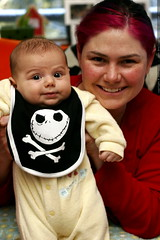 rachel and sequoia and their jack skellington bib   …