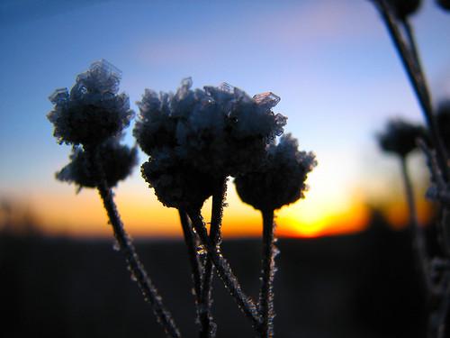 sunset ice frost pieksämäki