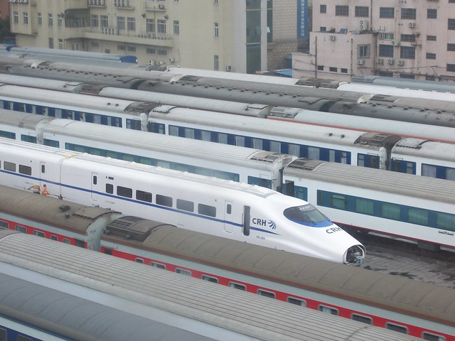 High Speed Train at Shanghai Railway Station