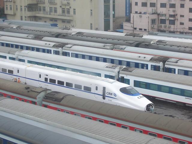 High Speed Train at Shanghai Railway Station