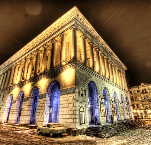 A Snowy Night at the Kiev Opera House by Stuck in Customs