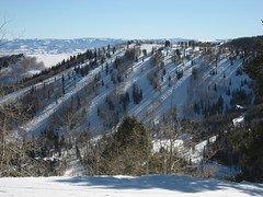 Pretty slopes at the Canyons