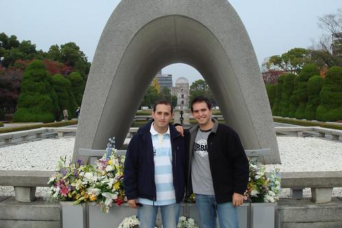 Con Oscar en Hiroshima
