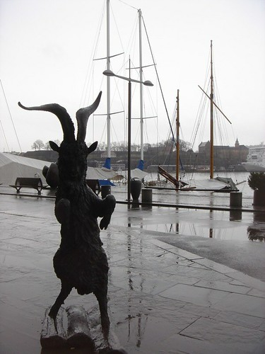 Half-man; half-goat - the guardian of the harbour | Flickr ... - photo#12