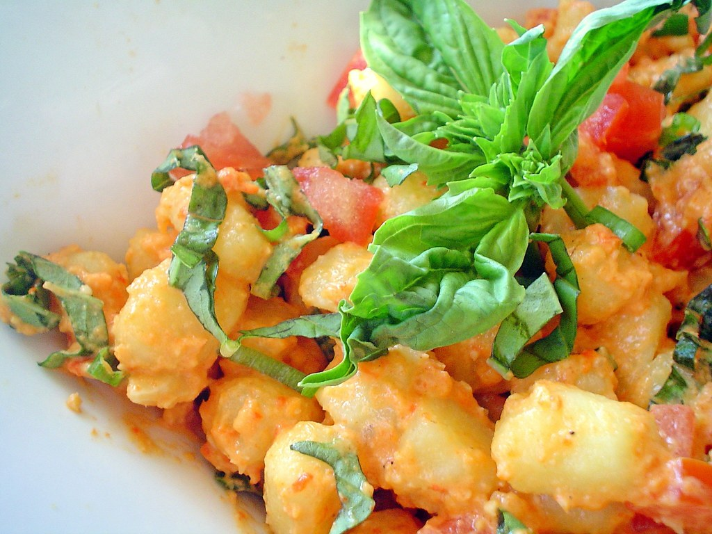 Gnocchi Salad with Almond Dressing - Recipe