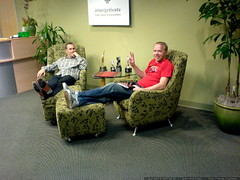 kent and austin in the inter@ctivate reception area …