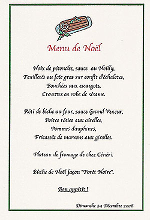 Idee menu noel my blog for Idee menu original