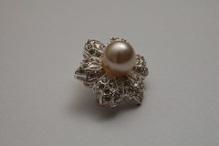 ring, pearl, metal, jewellery, silver,