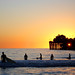 Surfers Before Sunset at Oceanside Pier by EthnoScape