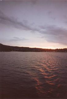 subtle sunset on Lake Lucerne