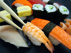 meal(1.0), california roll(1.0), fish(1.0), sushi(1.0), seafood(1.0), gimbap(1.0), japanese cuisine(1.0), food(1.0), dish(1.0), cuisine(1.0), asian food(1.0),