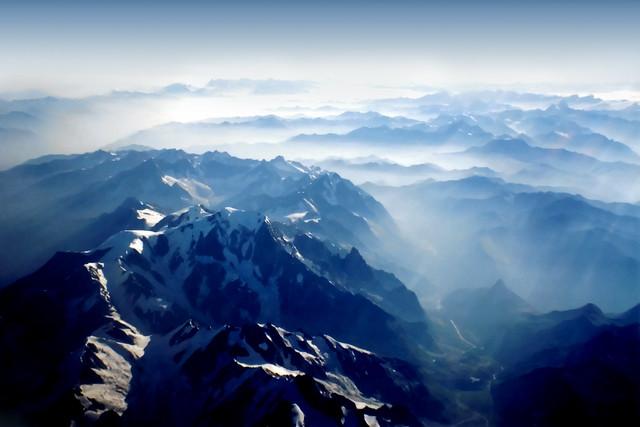 Mountains from Sky - Alps - Swiss and Italy - Alpi Svizzera e Italia - Dino Olivieri from Flickr via Wylio