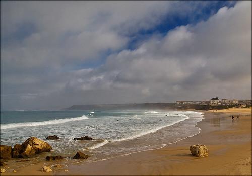 sea people portugal sand baleal