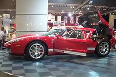 race car, automobile, vehicle, performance car, automotive design, auto show, ford gt, land vehicle, luxury vehicle, supercar, sports car,