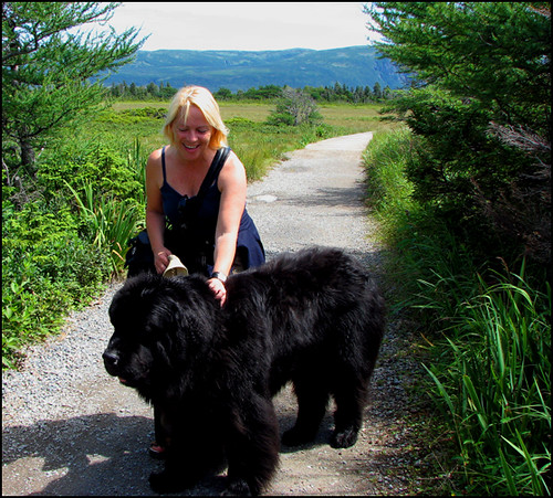 Me and a Newfoundland Dog