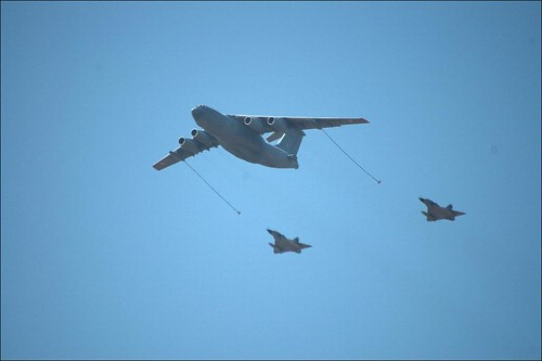 IAF display of mid air re-fueling