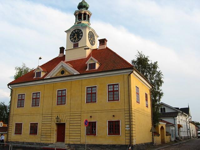Un edificio de Rauma Antiguo.