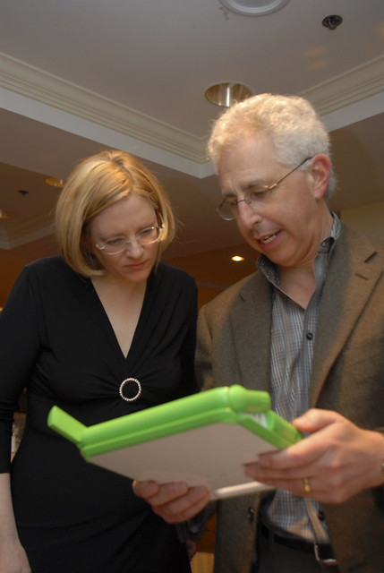 Frank Moss, MIT Media Lab, and Teresa Martin, President/CE
