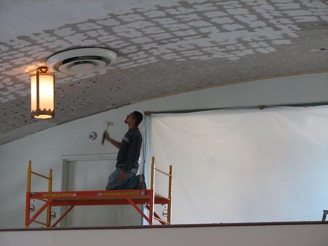 ceiling skim coating flickr photo sharing. Black Bedroom Furniture Sets. Home Design Ideas
