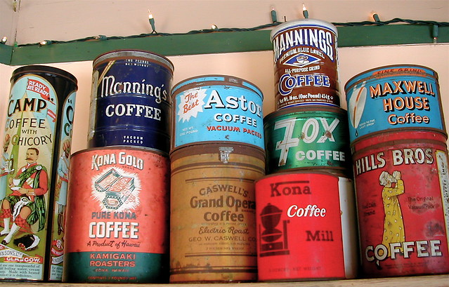 Vintage coffee cans 1