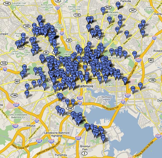 Baltimore Murder Map 2006  Flickr  Photo Sharing
