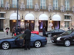 Ferrari 456 GT in front of Ritz Hotel Paris