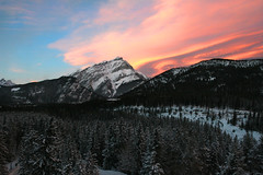 Sunset over Banff