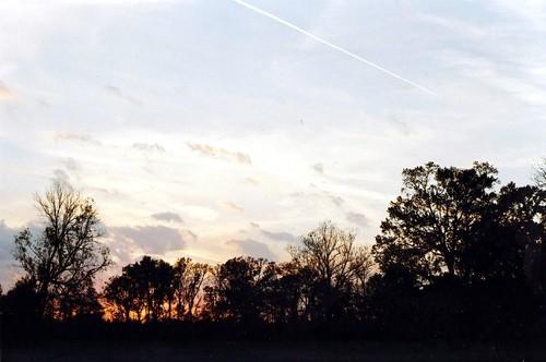 sunset sky film kodakmax400 om1 olympusom1 zuiko50mmf14 chrislin christopherlin