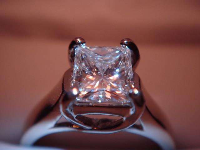 Princess Cut Diamond Ring Band