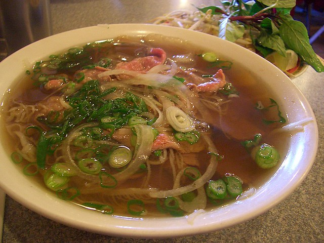 Pho Traditional Vietnamese Noodle Soup Rice Noodles In