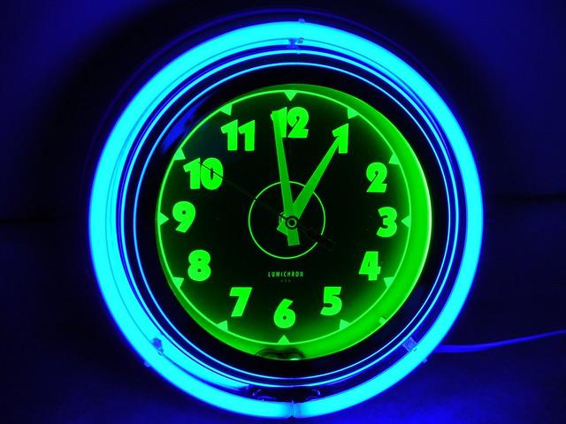 Lumichron Neon Wall Clock Flickr Photo Sharing