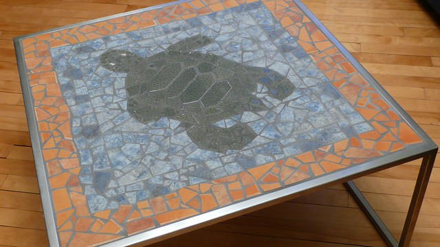 Table en acier inox avec mosa que tortue flickr for Fabriquer table mosaique