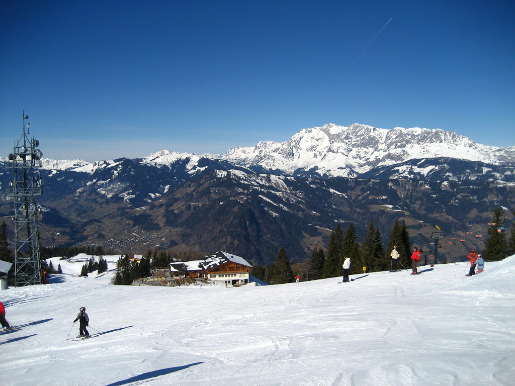 Skiing on the Gernkogel